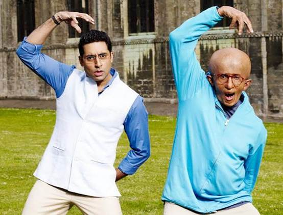 Abhishek Bachchan and Amitabh Bachchan in Paa