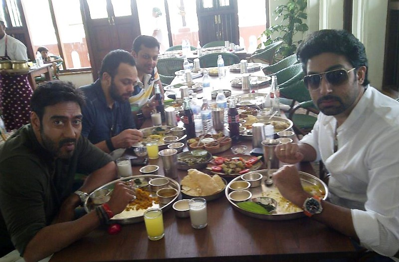 Abhishek Bachchan enjoying food