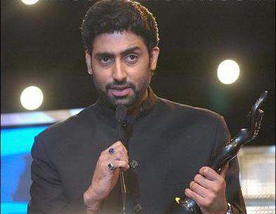 Abhishek Bachchan with Filmfare Award