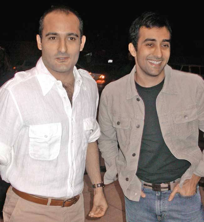 Akshaye Khanna With his Brother, Rahul Khanna