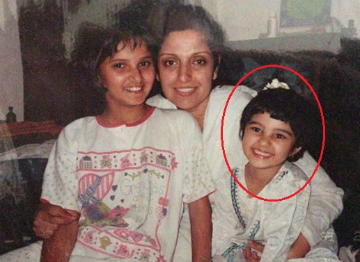 Anam And Sania Mirza With Their Aunt