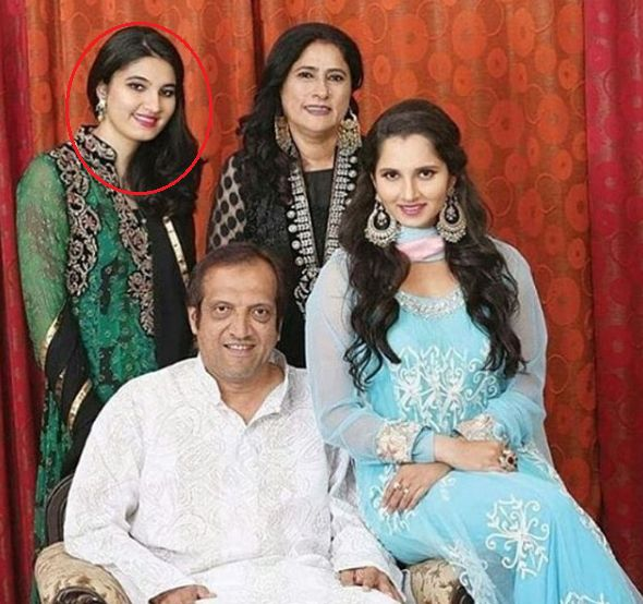 Anam Mirza With Her Family