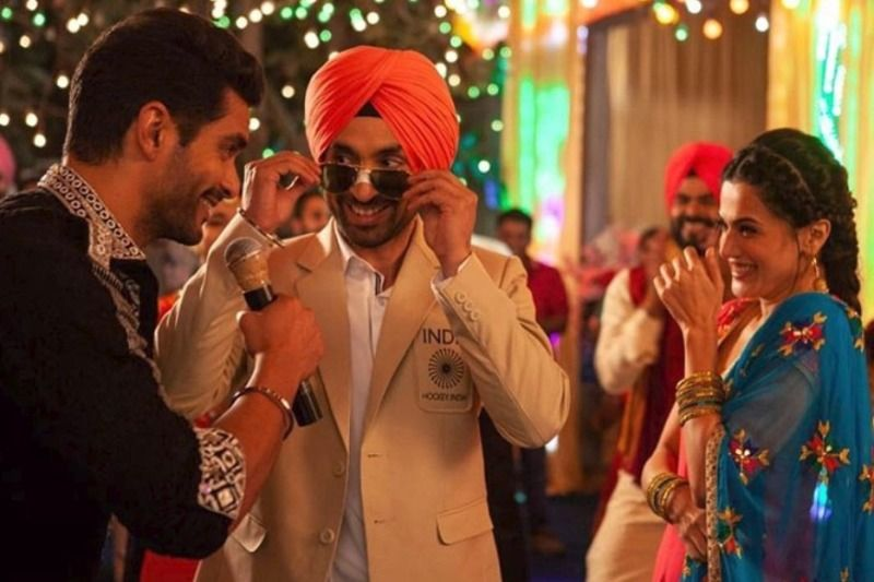 Angad Bedi, Taapsee Pannu and Diljit Dosanjh in a still from Soorma