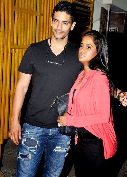 Angad Bedi with Arpita Khan