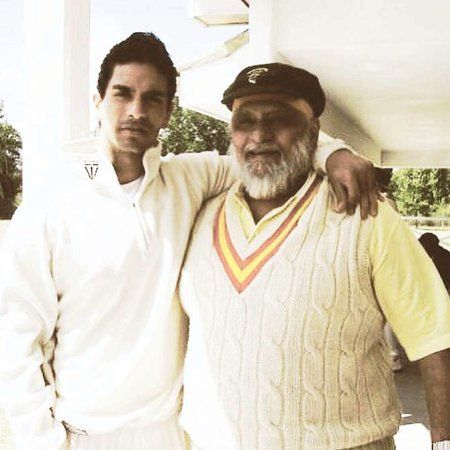 Angad Bedi with his father