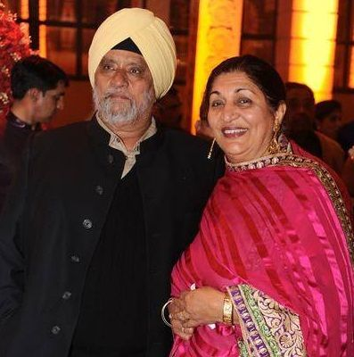 Angad Bedi's parents