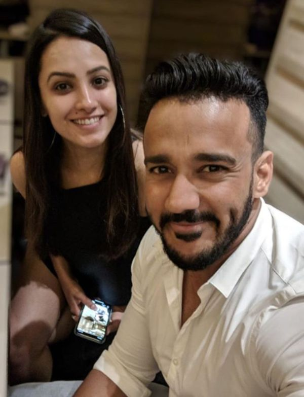 Anita Hassanandani with her husband, Rohit Reddy
