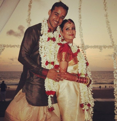 Anita Hassanandani's wedding picture
