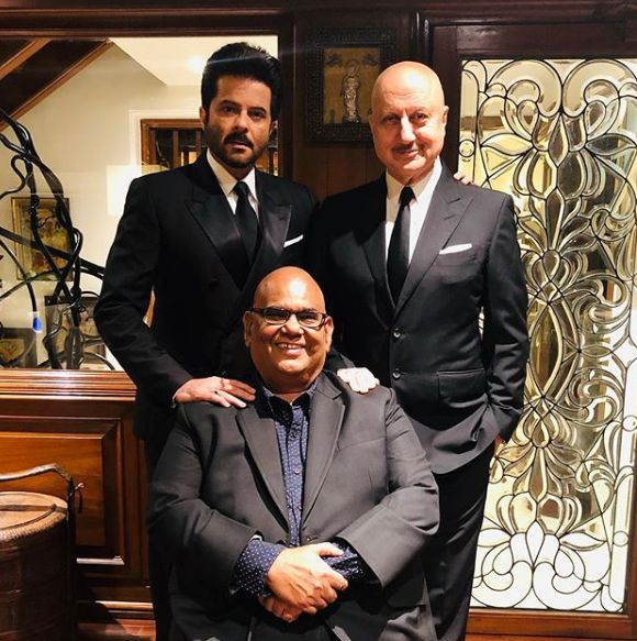 Anupam Kher along with Anil Kapoor and Satish Kaushik