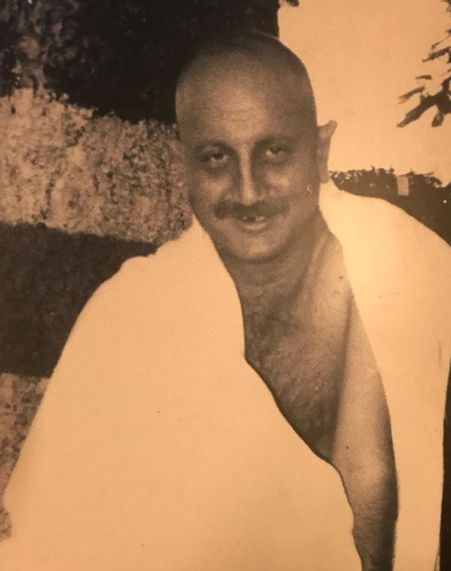 Anupam Kher as GandhiJi in the TV series Raj Se Swaraj Tak
