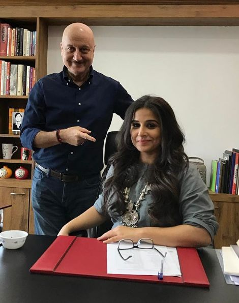 Anupam Kher with actress Vidya Balan