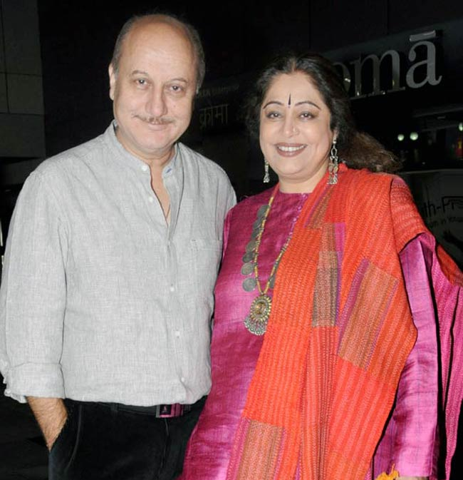 Anupam With Wife Kirron