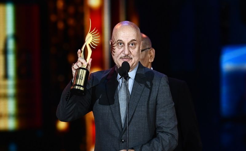 Anupam with IIFA Award