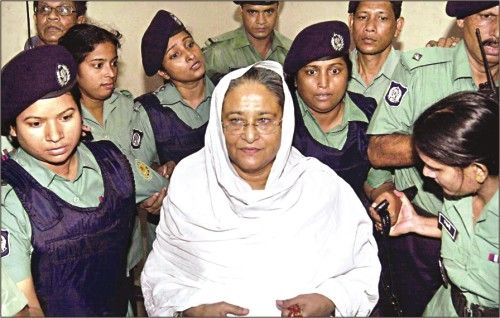 Arrest of Sheikh Hasina on charges of extortion