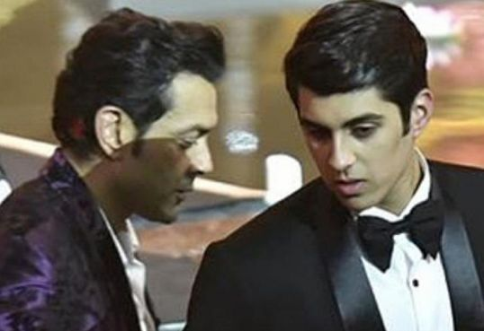 Aryaman Deol With His Father, Bobby Deol At IIFA