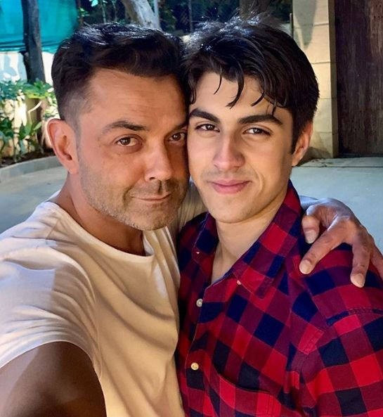 Aryaman Deol With His Father, Bobby Deol