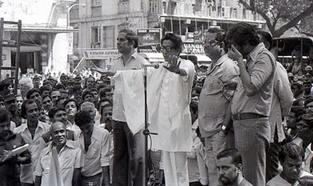 Bal Thackeray during Municipal Election