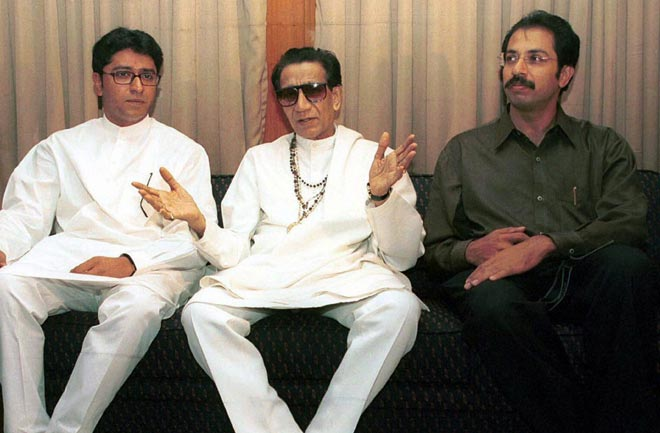 Bal Thackeray with Raj and Uddhav Thackeray