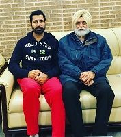 Binnu Dhillon with his father