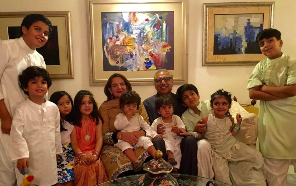 Arif-ur-Rehman Alvi; with his wife, Samina Alvi and Four Children