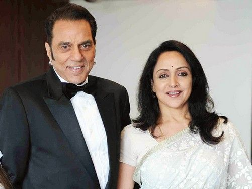 Dharmendra With His Second Wife, Hema Malini
