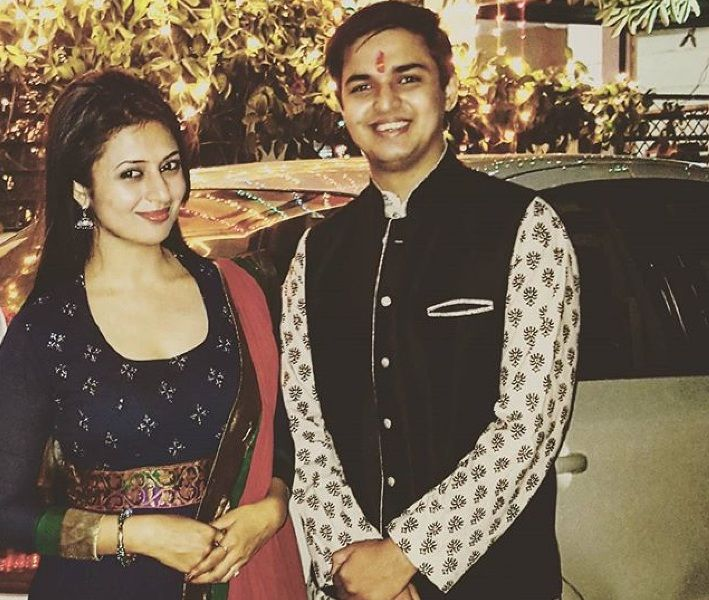 Divyanka Tripathi with her brother