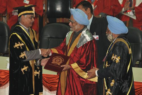 Dr Manmohan Singh conferred with an Honorary Doctoral