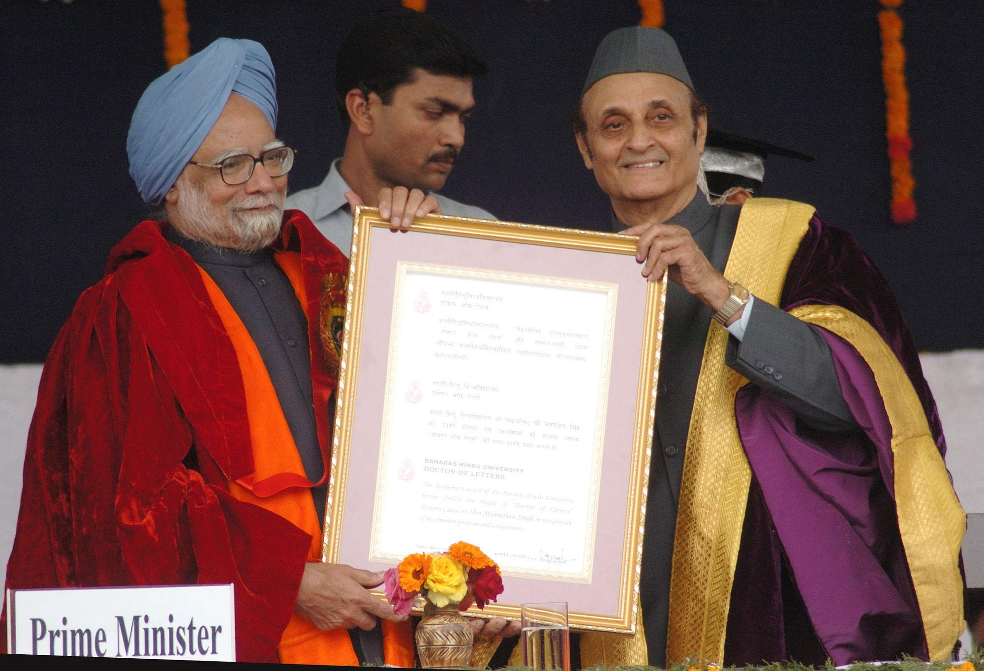Dr Singh Awarded Doctor Of Letters By Banaras Hindu University