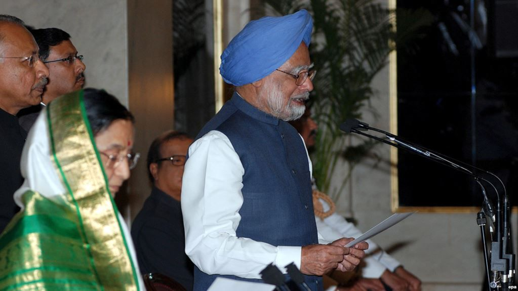 Dr Singh Taking The Oath As The Prime Minister in 2009