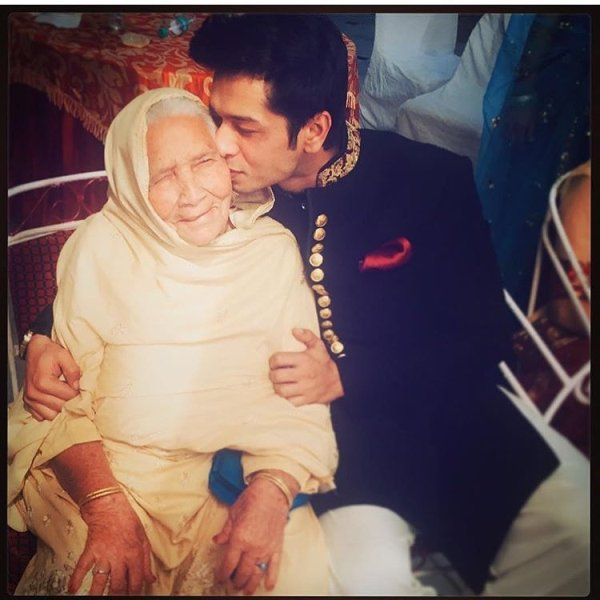 Fahad Ali with his grandmother