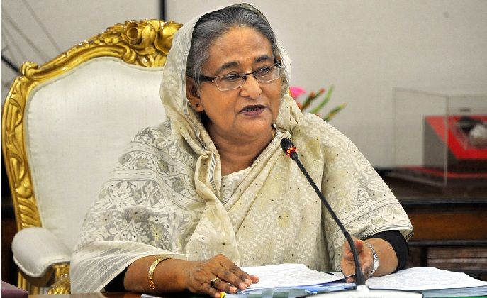 Hasina in National Environment Committee Meeting