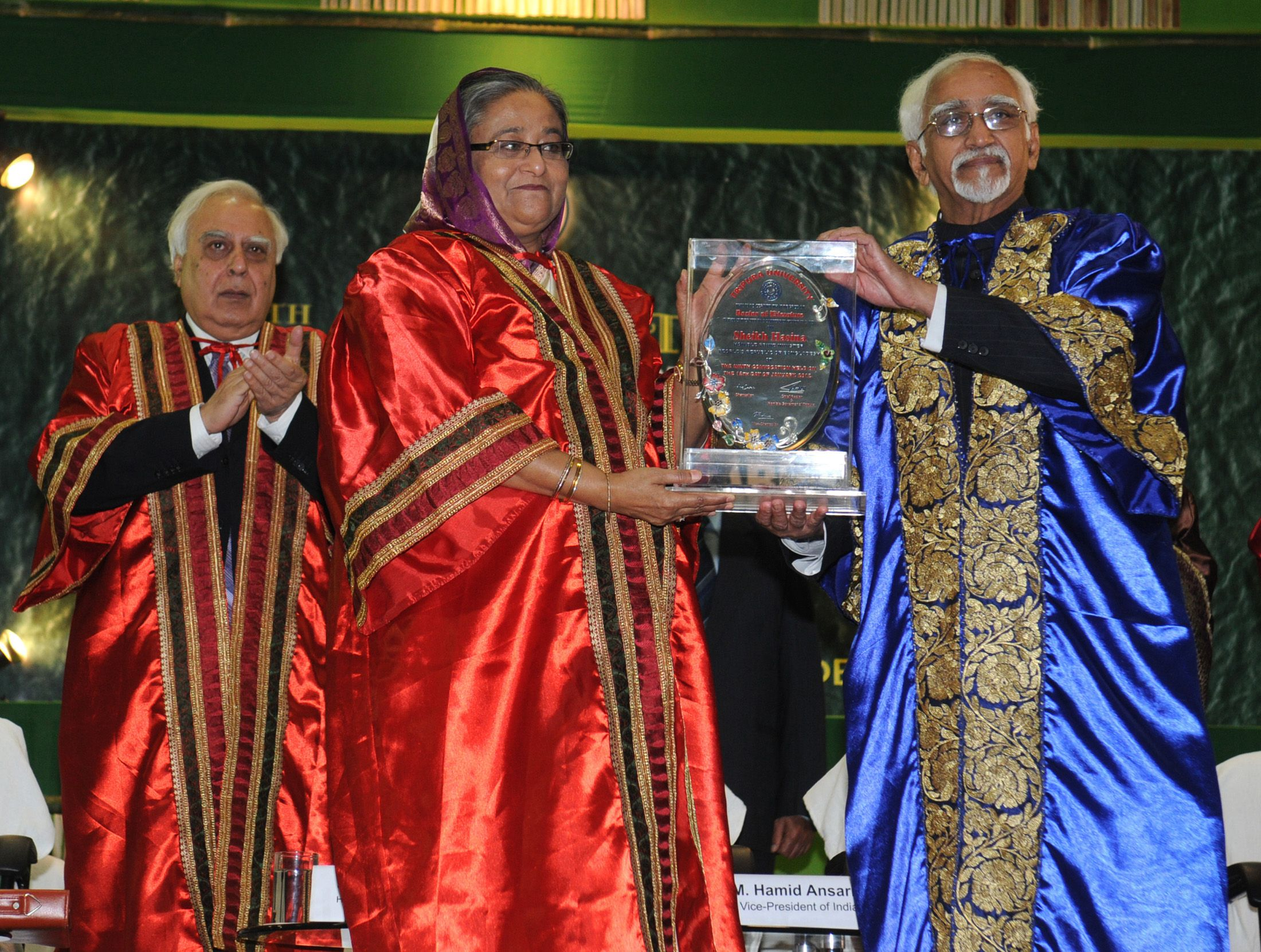 Horonary Doctorate to Sheikh Hasina