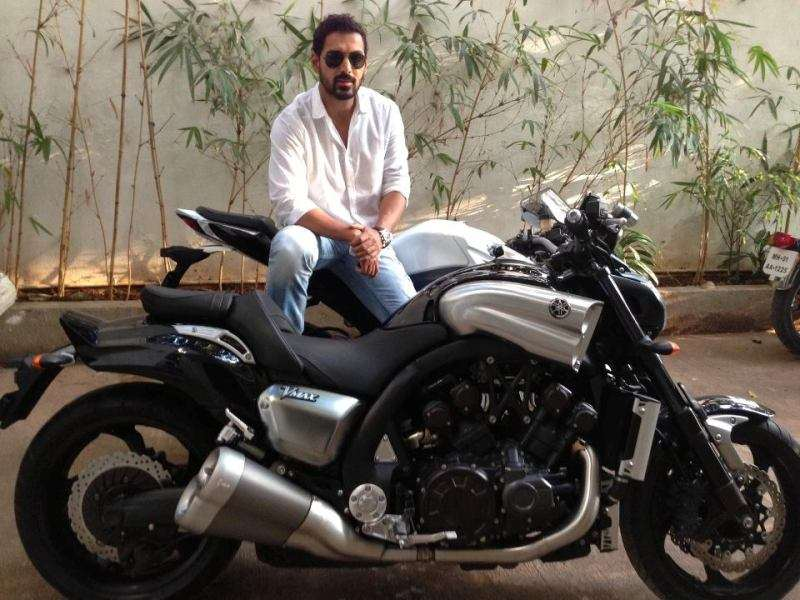 John Abraham on his Yamaha VMAX