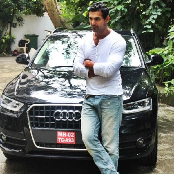John Abraham with his Audi Q3