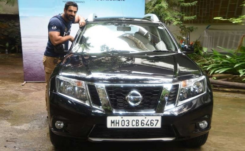John Abraham with his Nissan Terrano SUV