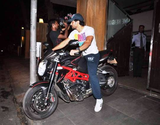 Kunal Khemu riding his bike