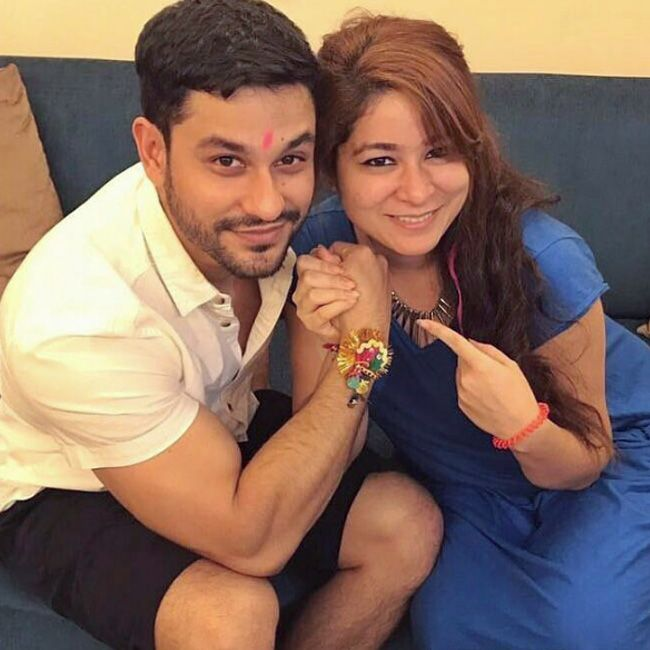 Kunal Khemu with his sister