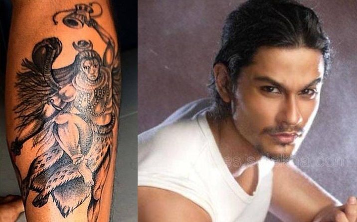Kunal Khemu's tatto on his leg