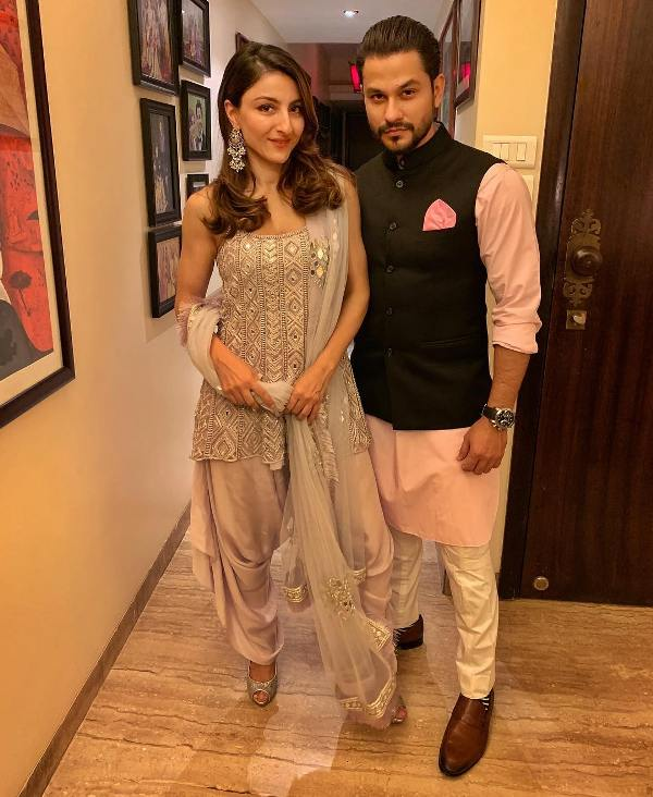 Kunal with Soha Ali Khan