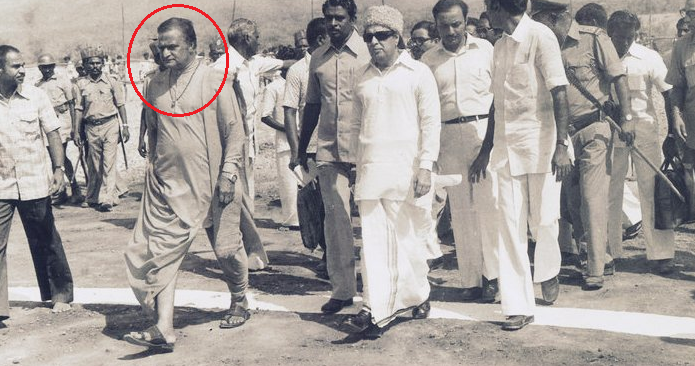 N.T. Rama Rao (encircled) With MGR
