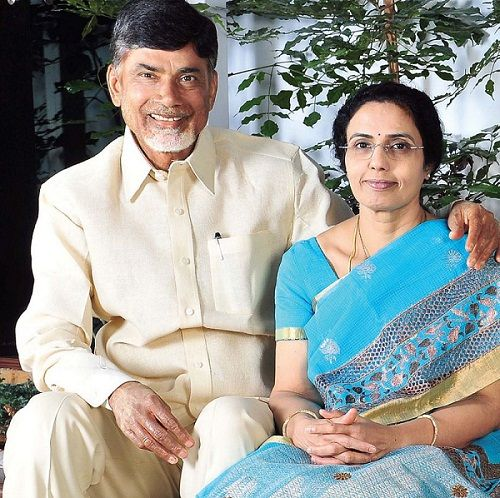 NTR Daughter, Nara Bhuvaneshwari with her husband Chandrababu Naidu