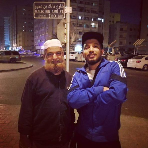 Naezy With His Father In Dubai
