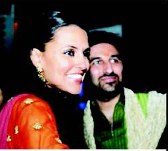 Neha Dhupia, With Her Brother