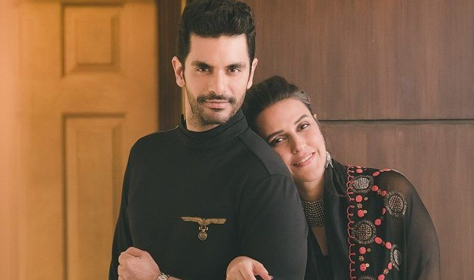 Neha Dhupia, With Her Husband, Angad Bedi