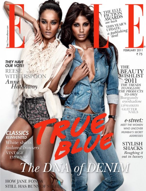 Nidhi Sunil (right) on The Cover of ELLE Magazine