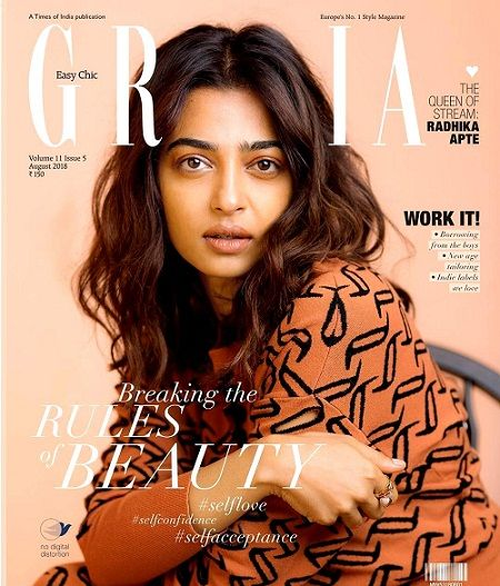 Radhika Apte's appearance on the Grazia India magazine cover