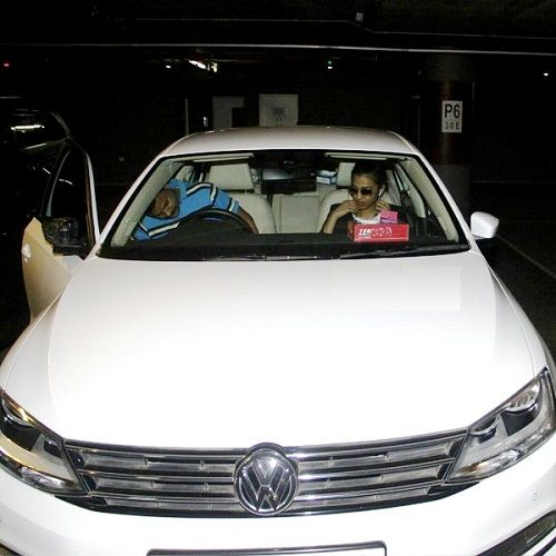Radhika Apte in her car