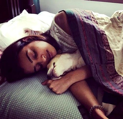 Radhika Apte with her pet dog