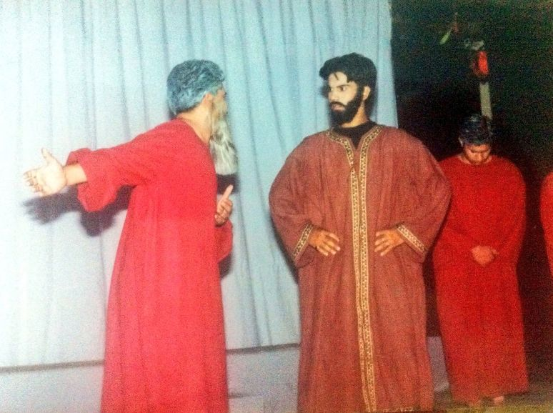 Rajkummar Rao, In His First Professional Play As King Oedipus During His College Days
