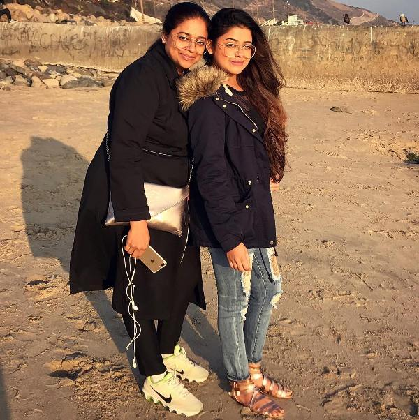 Riva Kishan with her mother